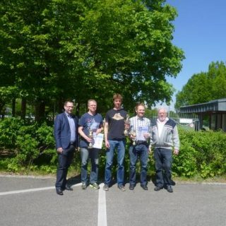 Sebastian Finsterwalder (Mitte) ist Oberbayerischer Meister 2016
