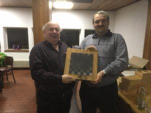 Die Gewinner des Hermann Thaler Erinnerungsturniers 2017: Peter Heinrichsen (links) und Thomas Sörgel
